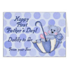 Umbrella Bear Blue - Father to Be Fathers Day Card