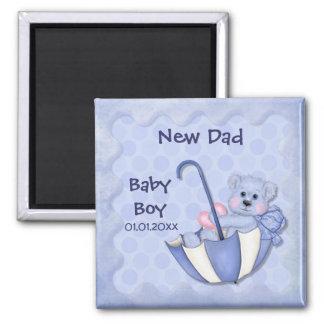 Umbrella Bear - Customize - Boy 2 Inch Square Magnet