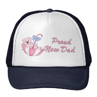 Umbrella Bear Girl on Polka Dots  for New Dad Trucker Hat