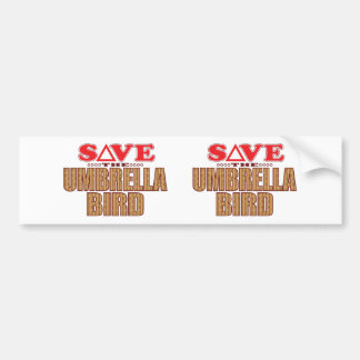 Umbrella Bird Save Bumper Sticker
