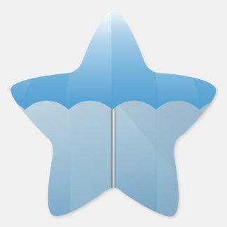 Umbrella Blank Presentation Background Star Sticker