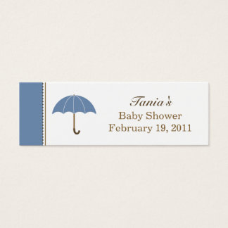Umbrella Blue Small Tag