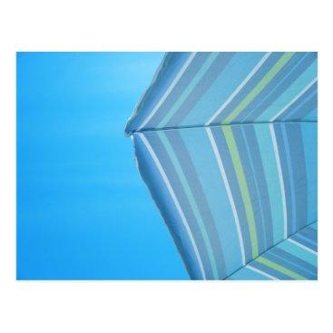 Beach Themed Umbrella Blues Postcard