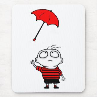 Umbrella Boy Mouse Pad