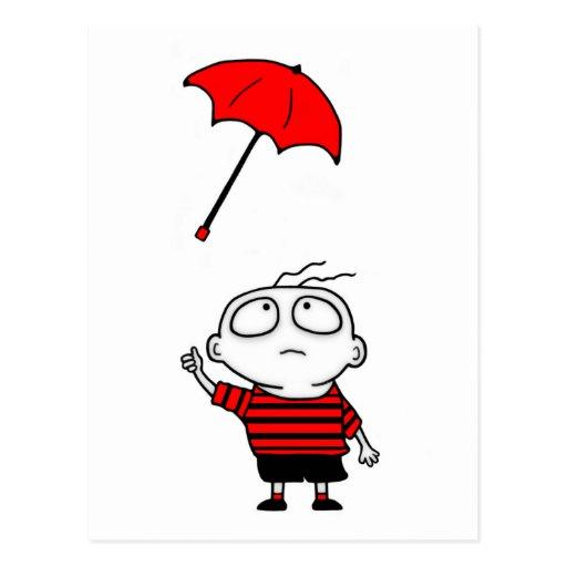 Umbrella Boy Postcard