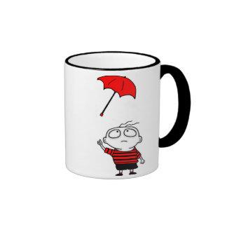 Umbrella Boy Ringer Mug