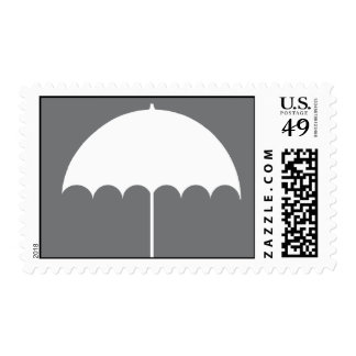 Umbrella Bridal Shower Invitation Stamp