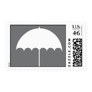 Umbrella Bridal Shower Invitation Stamp