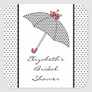 umbrella bridal shower sticker