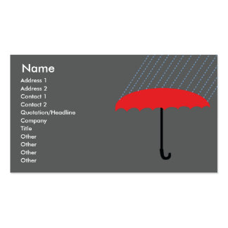 Umbrella - Business Double-Sided Standard Business Cards (Pack Of 100)