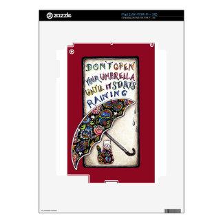 Umbrella Cat Quote Doodle Decals For The iPad 2