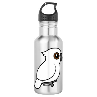 Umbrella Cockatoo (flat) 18oz Water Bottle