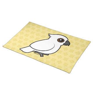 Umbrella Cockatoo (flat) Cloth Placemat
