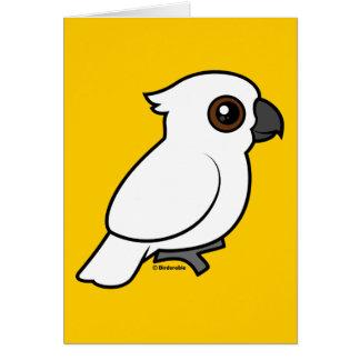 Umbrella Cockatoo (flat) Stationery Note Card