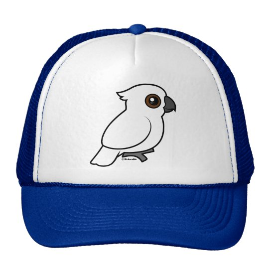 Umbrella Cockatoo (flat) Trucker Hat