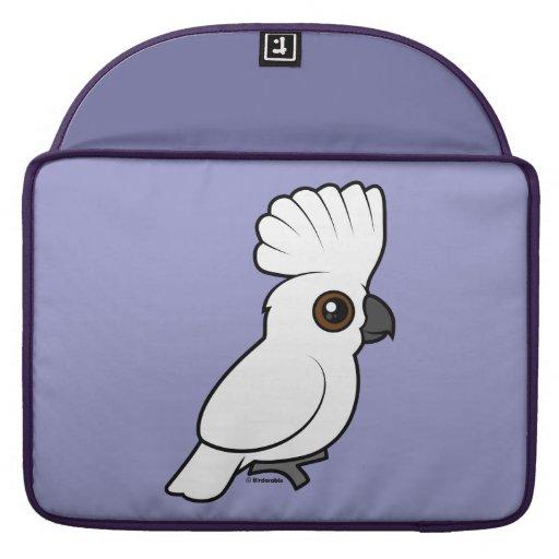 Umbrella Cockatoo (raised) MacBook Pro Sleeve