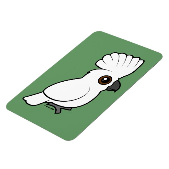 Umbrella Cockatoo (raised) Magnet
