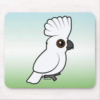 Umbrella Cockatoo (raised) Mouse Pad