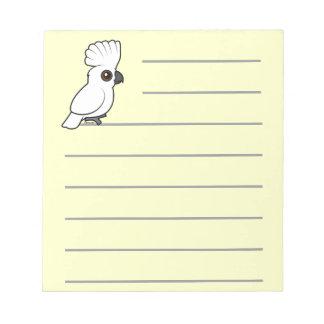 Umbrella Cockatoo (raised) Notepad