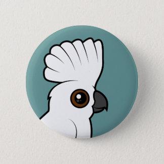 Umbrella Cockatoo (raised) Pinback Button
