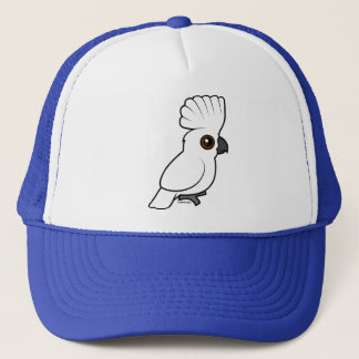 Umbrella Cockatoo (raised) Trucker Hat