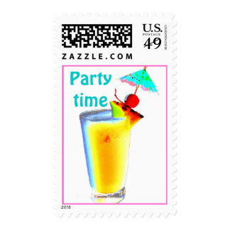 Umbrella Drink Cocktail Party Postage