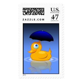Umbrella Duck Postage Stamp