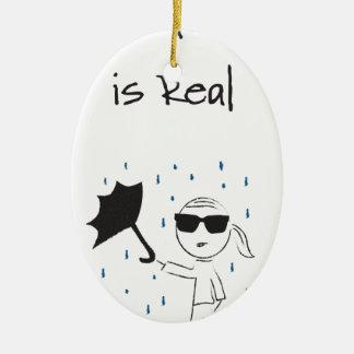 Umbrella Fail Struggle Is Real Ceramic Ornament