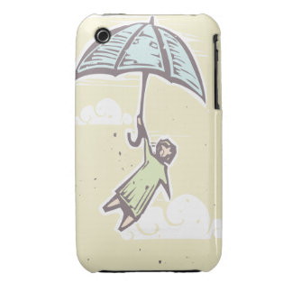 Umbrella Flying iPhone 3 Cover
