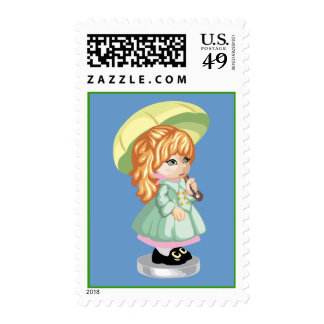Umbrella Girl Postage