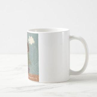Umbrella Girl Whimsical Garden Illustration Coffee Mug