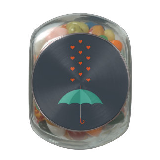 Umbrella Glass Candy Jars