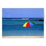Umbrella in Hawaii Cards