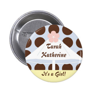 Umbrella in Pastels Pinback Buttons