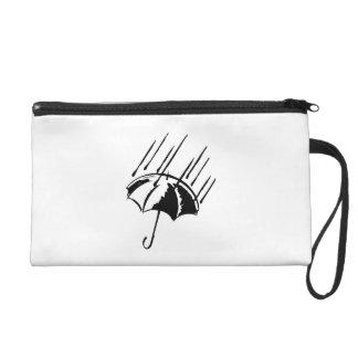 Umbrella in the Rain Wristlet