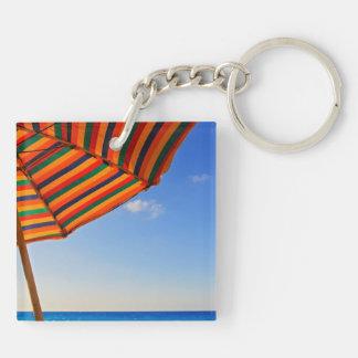 umbrella Double-Sided square acrylic keychain