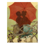 Umbrella Lovers Postcard