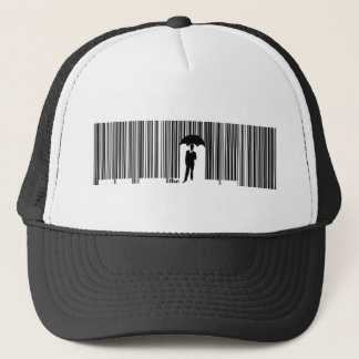 umbrella man trucker hat