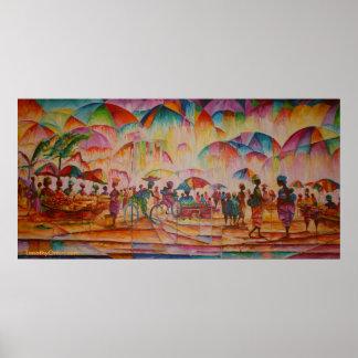 Umbrella Market - Canvas Print