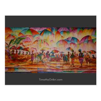 Umbrella Market - Postcard