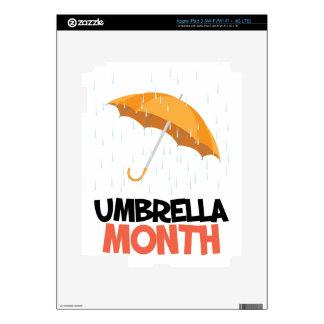 Umbrella Month - Appreciation Day Decal For iPad 3