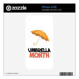 Umbrella Month - Appreciation Day Decal For The iPhone 4