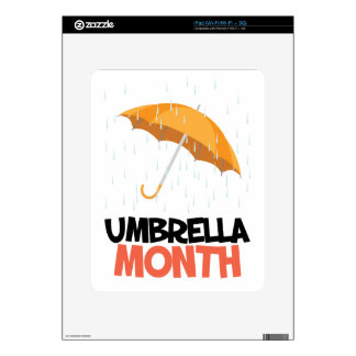 Umbrella Month - Appreciation Day Decals For iPad