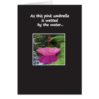 Umbrella on the Water Greeting Card