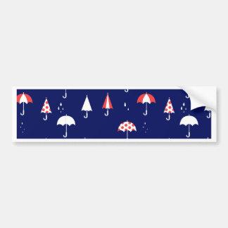 Umbrella pattern vintage and playful bumper sticker