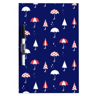 Umbrella pattern vintage and playful dry erase board