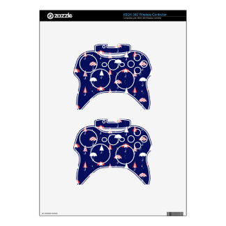 Umbrella pattern vintage and playful xbox 360 controller skin