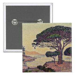 Umbrella Pines at Caroubiers, 1898 Pinback Button