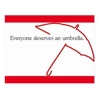 Umbrella Postcard