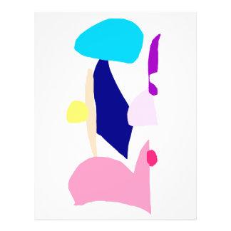 """Umbrella Purple Sword Pink Warrior Rain Sky 8.5"""" X 11"""" Flyer"""
